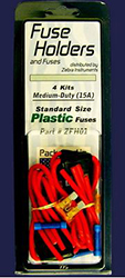 FUSE HOLDERS & FUSES 15A MEDIUM DUTY 4/PK ZFH01