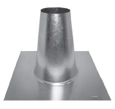 "GAS VENT 12RFT-S 12"" TALL CONE FLAT ROOF FLASHING TYPE B 2003649"