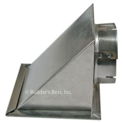 """METAL EAVE VENT 04"""" WITH SCREEN & FLAPPER 8/CS 110188"""