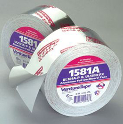 "Venture Tape 1581A Aluminum Foil Duct Board Tape 2-1/2"" x 60 Yards"
