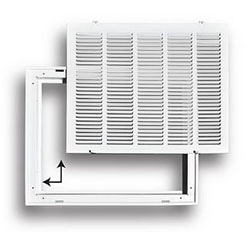 "Truaire 24"" x 24"" Stamped / Removable Face Return Air Filter Grille"