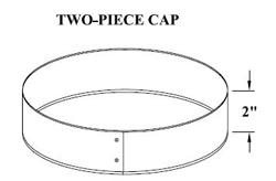 """#273 04"""" END CAP 26GA"""