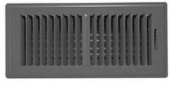 300-OS 10X06 BROWN PERIMETER FLOOR REGISTER 1401006BR (10/CS)