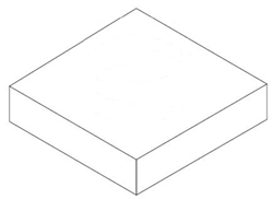 "#666 06X06 RECTANGULAR TO ROUND ADAPTER 3"" DEEP NO COLLAR"