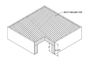 #88 10X06 DUCT BOARD BOX R6 20/CTN