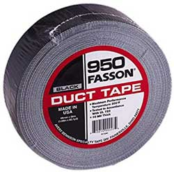 Fasson 950 2 Inch Black UL 723 Duct Tape