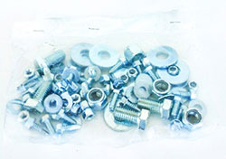 """AIRBRACEHWGA GALVANIZED AIRBRACE REPLACEMENT HARDWARE KIT FOR 36"""", 45"""" & 55"""" GALVANIZED AIRBRACES"""