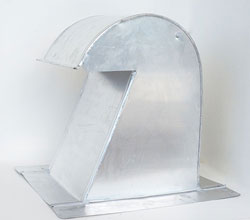 Barrel Tile Roof Vent 10 Inch Aluminum Extra Tall with Damper ARV-10XTD