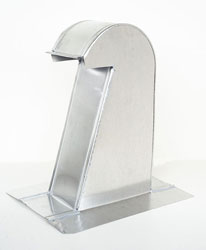 Barrel Tile Roof Vent 4 Inch Aluminum Extra Tall with Screen ARV-4XT