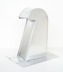Barrel Tile Roof Vent 4 Inch Aluminum Extra Tall with Damper ARV-4XTD