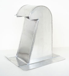 Barrel Tile Roof Vent 6 Inch Aluminum Extra Tall with Damper ARV-6XTD