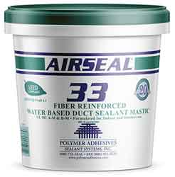 Polymer Adhesives AS33-2 Airseal 33 Fiber Reinforced Water Based Duct Sealant 2 Gallon White