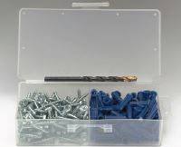 "ANCHOR KIT 10 X 1"" HEX TAPPING SCREW (100 PIECE BOX KIT) 8710E"