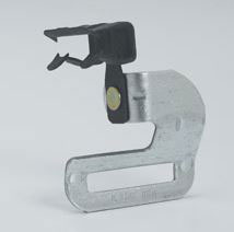 "RIGHT ANGLE STRAP HANGER 1/8"" TO 1/4"" BH-2-4-R 100/BX"
