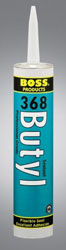 Boss 368 Grey Butyl Rubber Sealant 10.1 fl. ounce Tube 36803