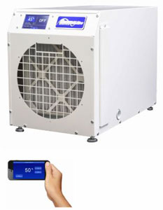 GeneralAire DH100 Whole House Dehumidifier with LCD Touch Screen & Wi-Fi Control 100 Pint