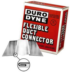 "FLEXIBLE DUCT CONNECTOR NEOPRENE BLACK 4"" X 4"" X 4"" 100' RL #10211 MFN444"