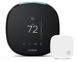 Ecobee ECOBEE4 Voice-enabled Smart Thermostat with Room Sensor