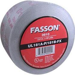 Fasson 0810 3 Inch UL 181 A-P/B-FX Aluminum Foil Tape