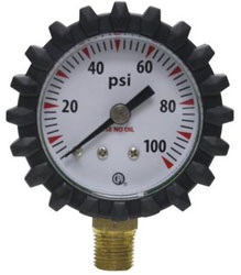 G49D WELDING OXYGEN REPLACEMENT GAUGE 100 PSI