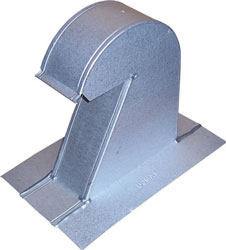 """BARREL TILE ROOF VENT GMRV-4HT 04"""" GALV-ALUM WITH SCREEN 8/CS"""
