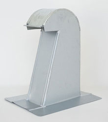 Barrel Tile Roof Vent 4 Inch Galvanized Extra Tall with Screen GRV-4XT
