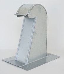 Barrel Tile Roof Vent 4 Inch Galvanized Extra Tall with Damper GRV-4XTD