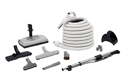 H205 SOLAIRE ELECTRIC CLEANING KIT 30' HOSE CHROME WAND & ATTACHMENTS 099055