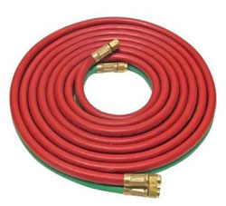 "OXYACETYLENE TWIN HOSE H32A 3/16"" I.D. MAX WP 200 PSI ""A"" FITTED 12.5'"