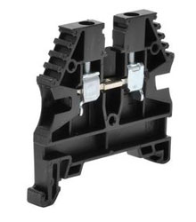 KN-T12BLK-25 KONNECT-IT SINGLE-LEVEL TERMINAL BLOCK, ACCEPTS WIRE SIZE 26 - 12 AWG, BLACK, 20A, 600V RATED (UL), 35MM DIN RAIL MOUNT. (25/PK)