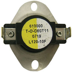 LIMIT SWITCH OPEN 120*F CLOSE 110*F DIFFERENTIAL 10*F L120