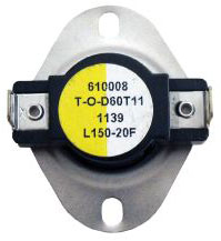 LIMIT SWITCH OPEN 150*F CLOSE 130*F DIFFERENTIAL 20*F L150