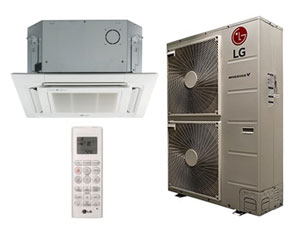 LG LC427HV Ceiling Cassette Single Zone System 42,000 Btu/h