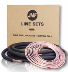 "1/4""x5/8""x1/2"" TWIN LINE SET 25' W/FLARE FITTINGS (4) BOTH LINES INSULATED DL04100825D"