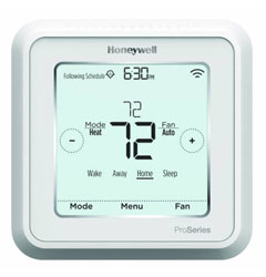 Honeywell TH6320WF2003 Lyric T6 Pro Wi-Fi Programmable Thermostat with stages up to 3 Heat/2 Cool Heat Pump or 2 Heat/2 Cool Conventional with Ventilation