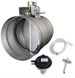 Broan MD6TU 6 Inch Universal Automatic Make-Up Air Damper with Pressure Sensor Kit