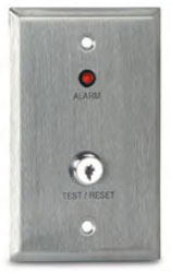 Air Products & Controls MS-KA/R MS Remote with Red Alarm LED with a Key Test and Reset