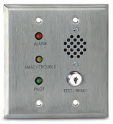 Air Products & Controls MS-RH-KA/P/A/T MS Remote Alarm LED, Pilot LED, Trouble LED, and Horn with Key Test and Reset