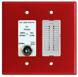 Air Products & Controls MSR-50RKA/R Remote with a Key, Sounder Assembly, Red Double Gang Plate