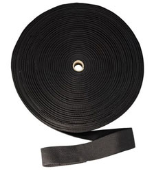 "NOVA STRAP 1-3/4"" X 300' BLACK POLY WEBBED STRAP NS300 #10180 (24RL/CS)"