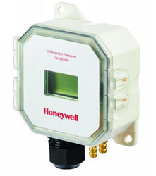 "Honeywell P7650A1026 Panel mount pressure sensor has ± 0-1"", 0-2"", 0-5"", 0-10"" w.c. selectable pressure range with display"