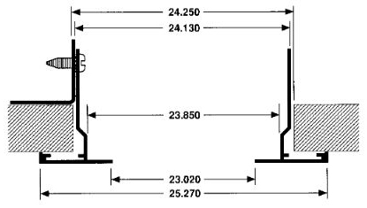 PFT 24X24 T-BAR WHITE PLASTER FRAME W/HARDWARE (4 BRACKETS & 8 SCREWS)