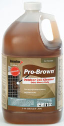 PRO-BROWN FOAMING COIL CLEANER 1 GAL (4/CS)