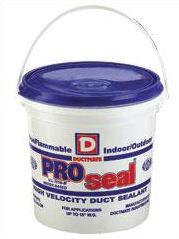 Ductmate PROSEAL1 PROseal Premium Grade Water Based High Velocity Duct Sealant 1 Gallon Gray