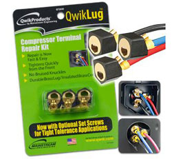 QWIK-LUG TERMINAL REPAIR KIT 10 AWG / 2' LEADS W/NUT UP TO 5 TON QT2810 3/PK