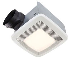 Broan QTXE080FLT Very Quiet Bath Fan, Fan/Light, 36W Fluoresent Light, 4W Nightlight, 80 CFM, ENERGY STAR Certified