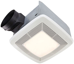 Broan QTXE110FLT Very Quiet Bath Fan, Fan/Light, 36W Fluoresent Light, 4W Nightlight, 110 CFM, ENERGY STAR Certified