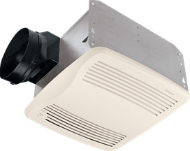 Broan QTXE110S Very Quiet Humidity Sensing Fan, White Grille, 110 CFM, ENERGY STAR Certified