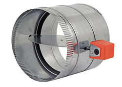 Zonefirst RDS-20 Automatic Round Damper with MSS Spring Return Motor