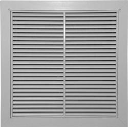 RF-2-T 24X24 T-BAR RETURN AIR FILTER GRILLE WHITE WITH WIDE FLANGE